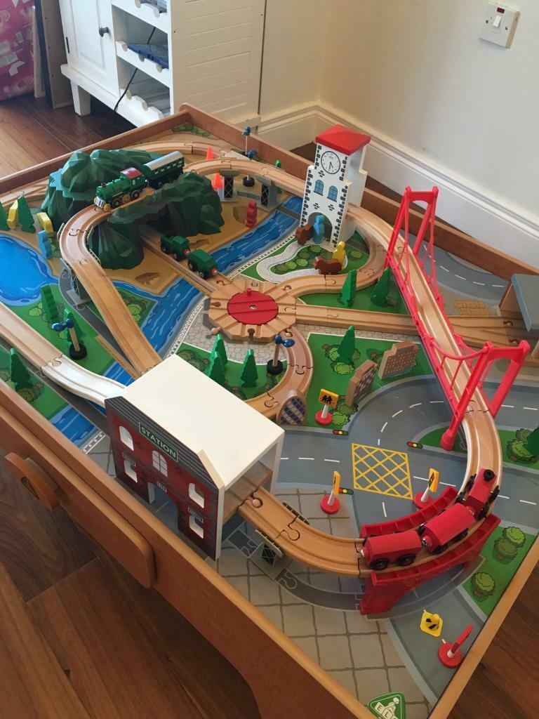 ELC Wooden Train Track Set Table & ELC Wooden Train Track Set Table   in Hillsborough County Down ...