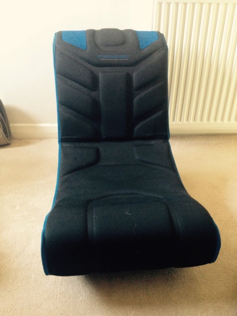 Pyramat S1500W Gaming Chair - Blue and Black - Built in Speakers - Folds for Easy & Pyramat S1500W Gaming Chair - Blue and Black - Built in Speakers ...