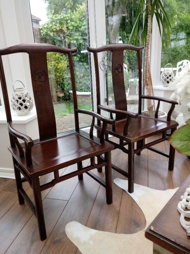 Chinese Yoke Back Chairs