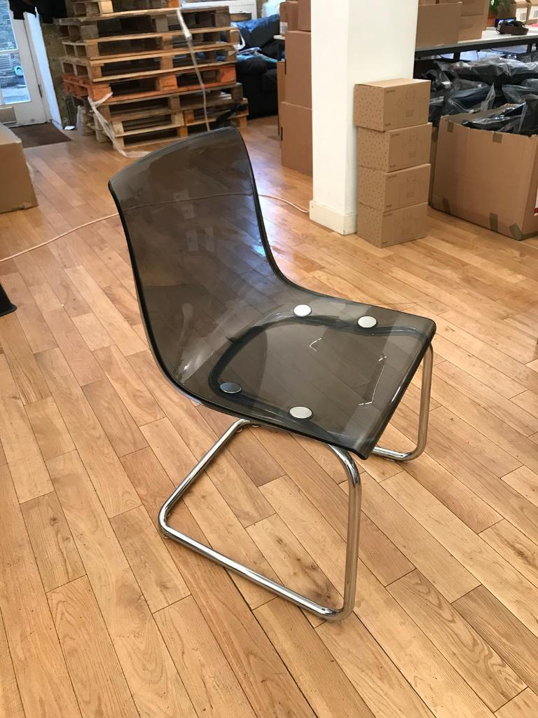 4 X IKEA Tobias Chairs U2014 Dark Grey