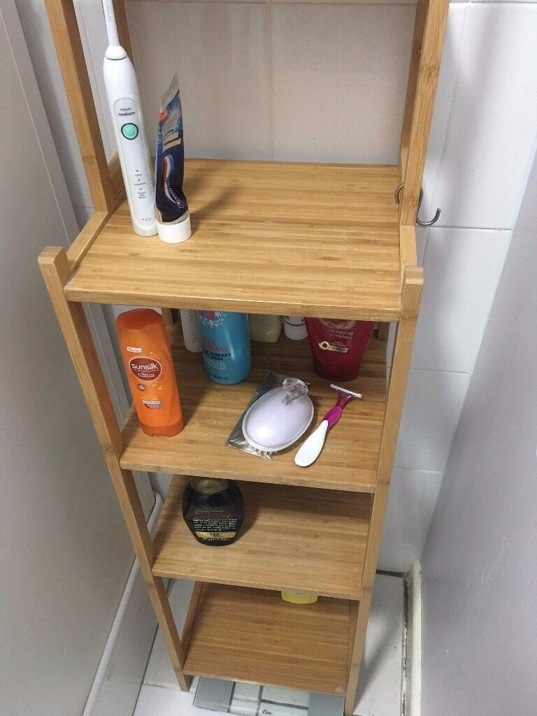 ikea bamboo ragrund bathroom shelving unit good condition 15 ono