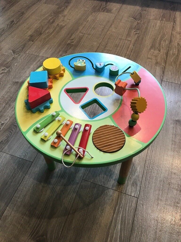 Baby Wooden Activity Table