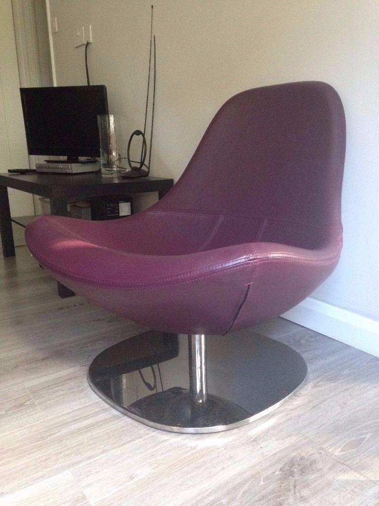 Charmant IKEA LEATHER TIRUP SWIVEL CHAIR   Purple