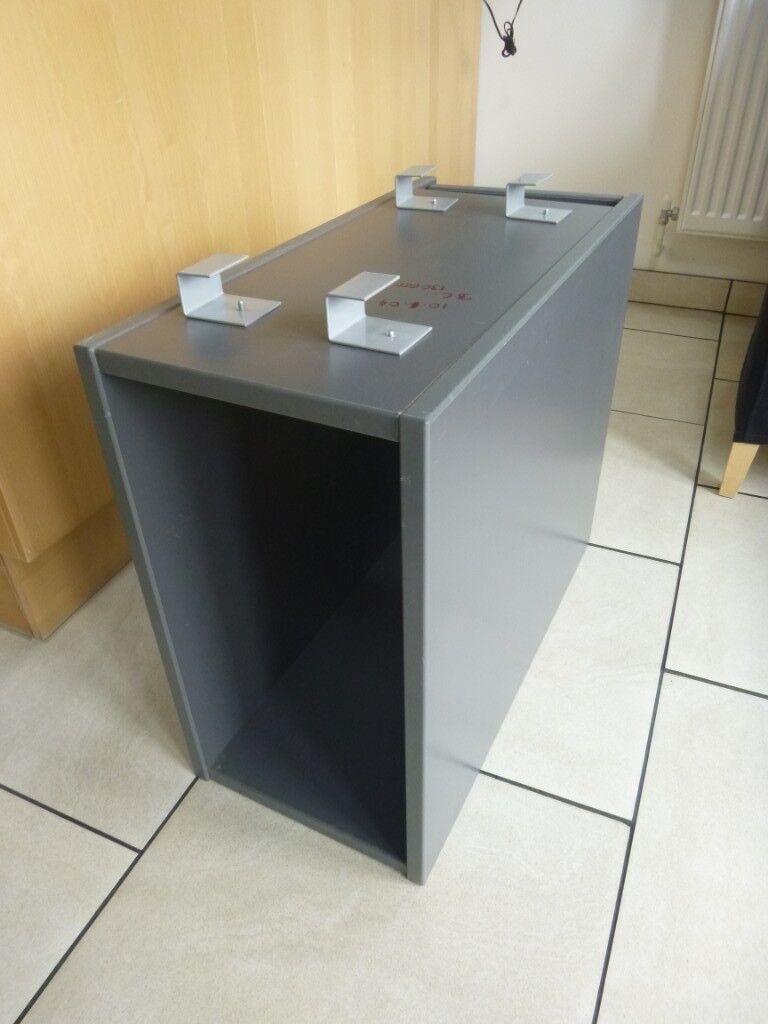 IKEA Under Desk Storage Unit For Computer Tower In Grey