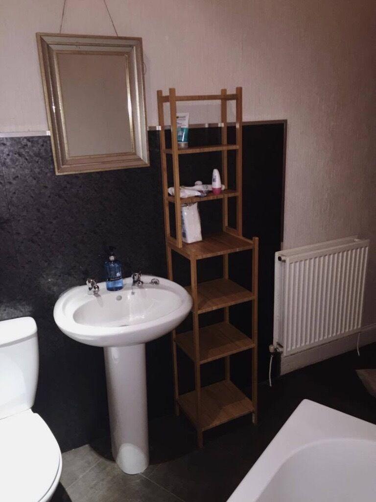 ikea bamboo bathroom shelving unit