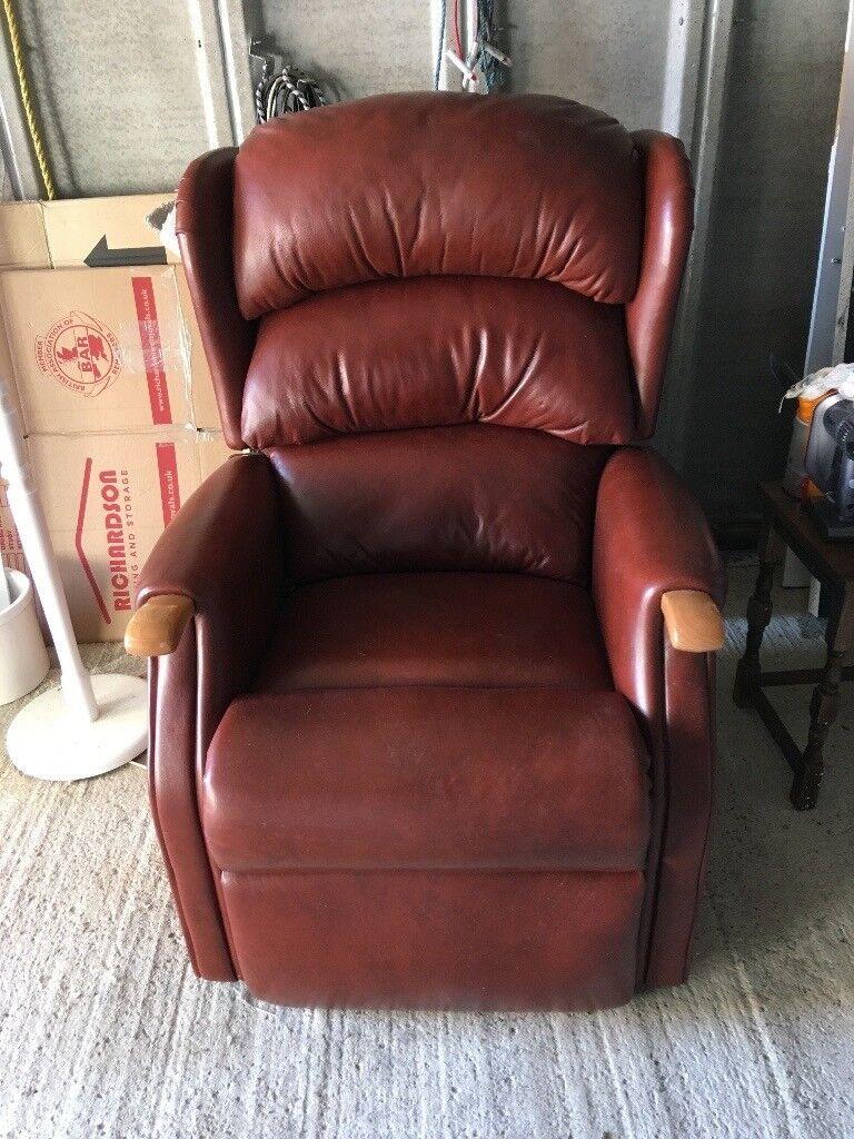 HSL Tan Leather Reclining chair manual excellent condition hardly used & HSL Tan Leather Reclining chair manual excellent condition ... islam-shia.org