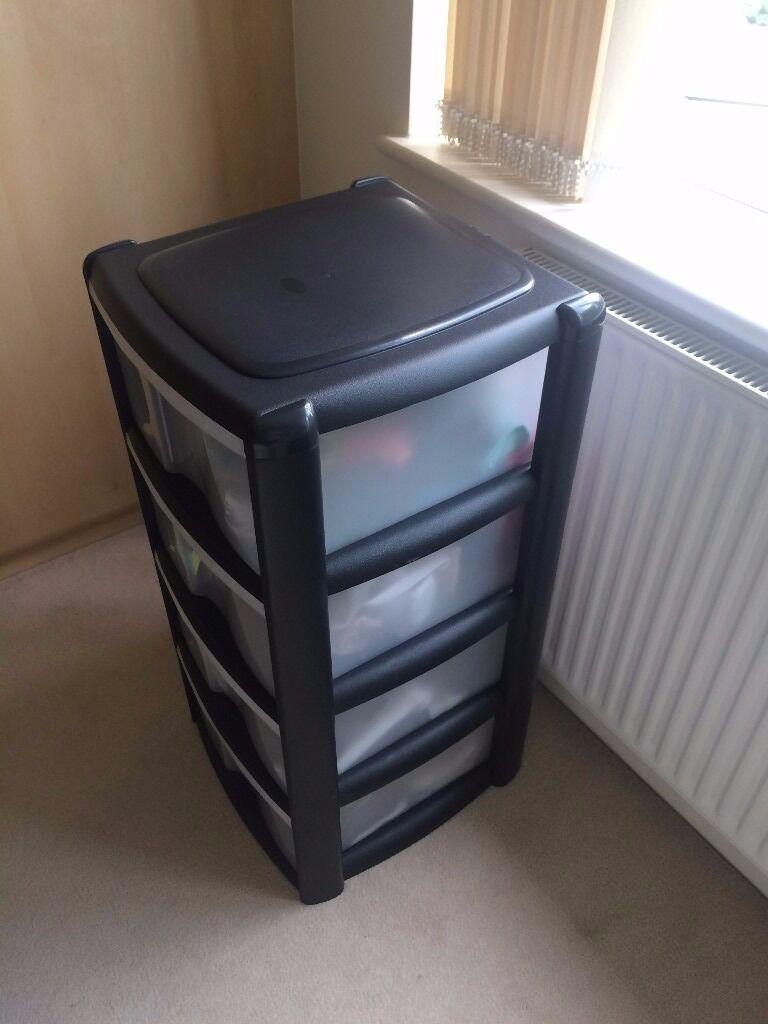Wilko Storage Unit 4 Drawer Assorted