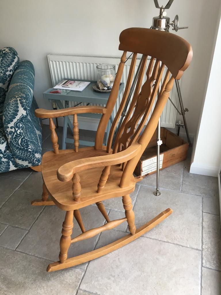 Wooden rocking chair & Wooden rocking chair | in Northampton Northamptonshire | Gumtree