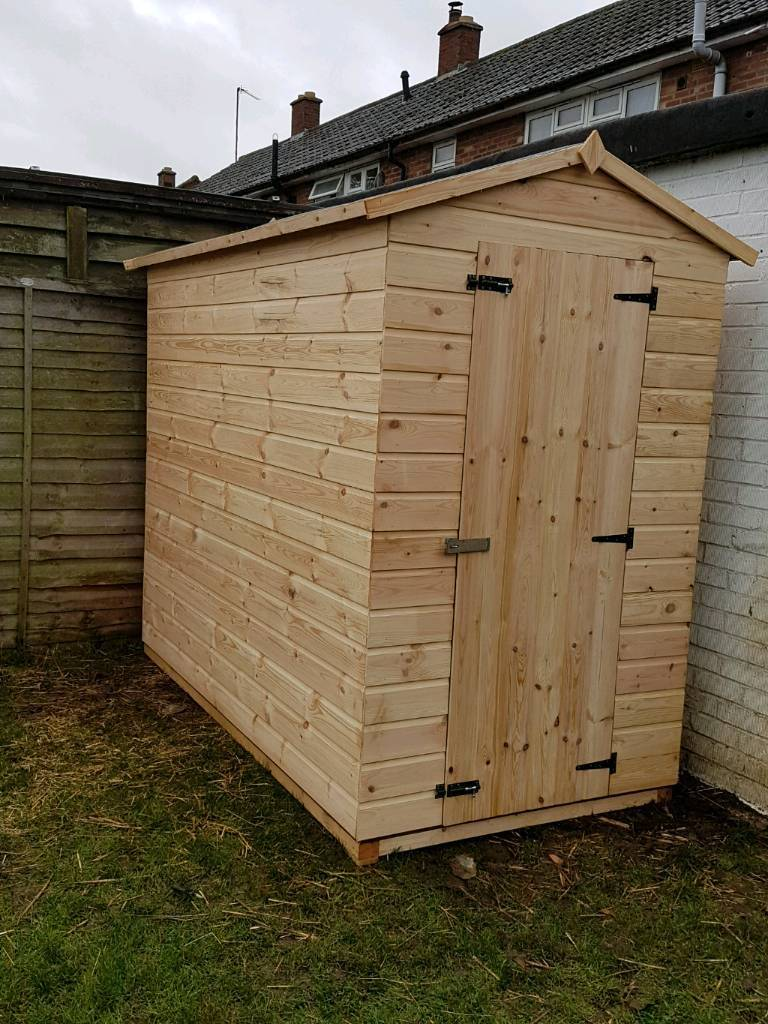 Exceptionnel Shiplap Garden Shed 8ft By 4ft