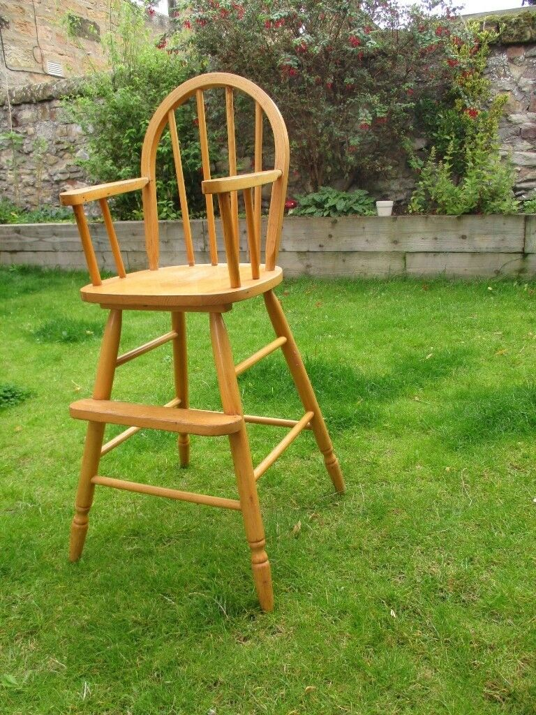 Traditional Wooden High Chair £15
