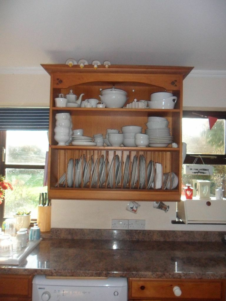Pine kitchen units Pine plate rack (crockery not included) Pine worktop glass : pine plate rack - Pezcame.Com