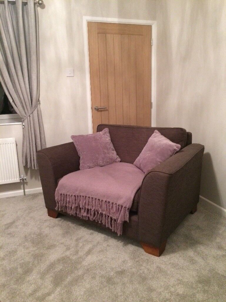 X2 Fabric Sofas, 1 Small 2 Seater Love Chair And 1 Chair Marks And Spencers