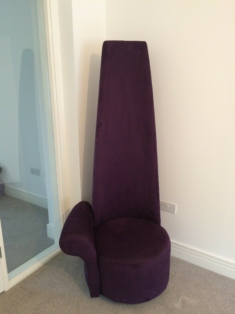 Tall Potenza Chair in Purple Suede & Tall Potenza Chair in Purple Suede | in Currie Edinburgh | Gumtree