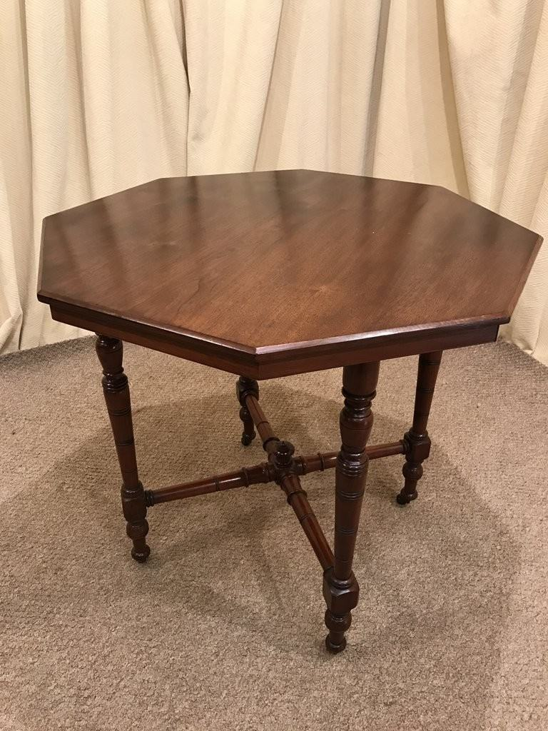 Victorian Mahogany Octagon Table Antique Occasional Table Hall Table   See  Delivery