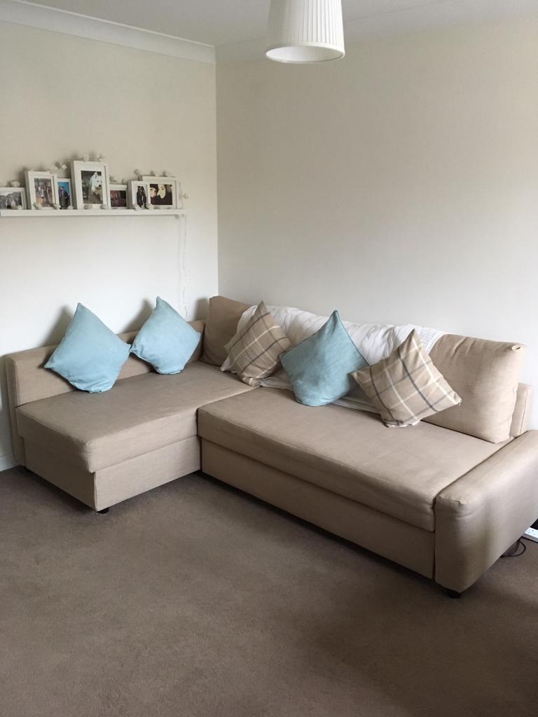 Ordinaire IKEA Friheten Corner Sofa Bed With Storage   Beige