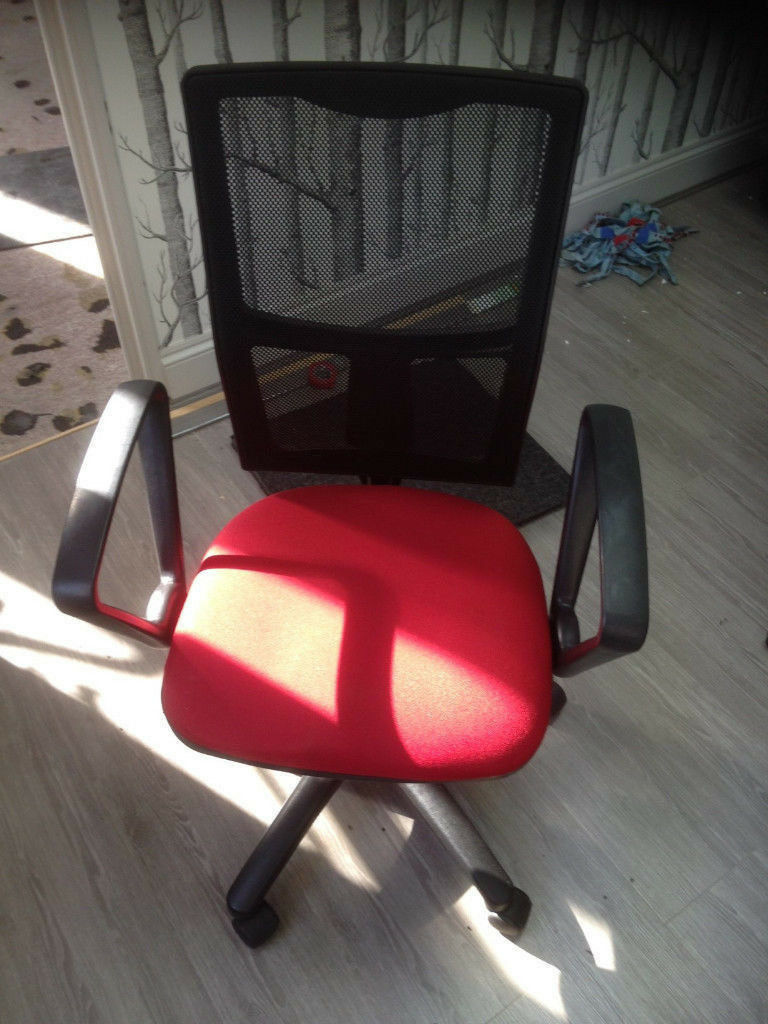 Office Swivel Chair Red And Black Adjustable Height Norbury, London