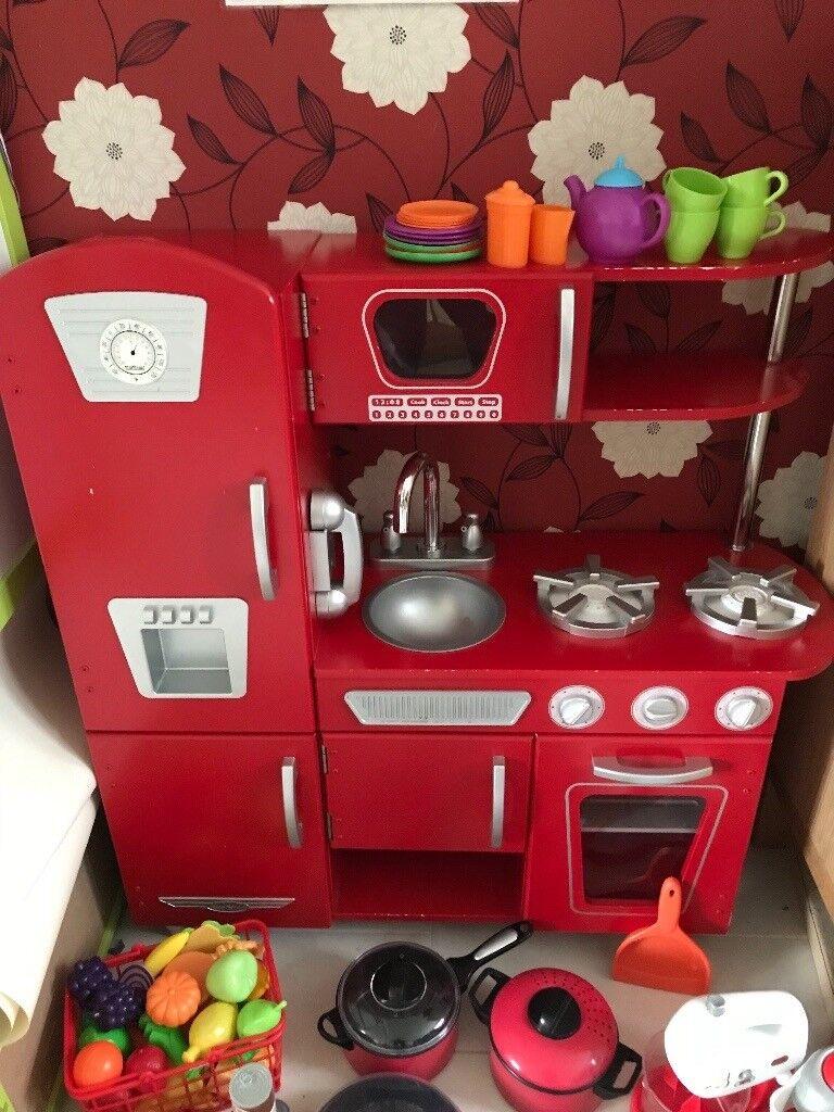 Kiddie Craft Toy Kitchen And Accessories
