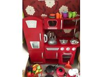 Kiddie Craft Toy Kitchen And Accessories