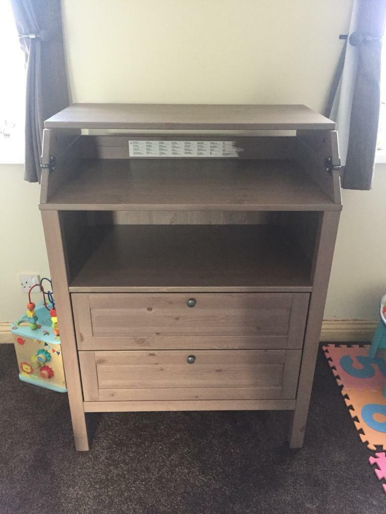 Attrayant Ikea Sundvik Changing Table/draws Grey Brown