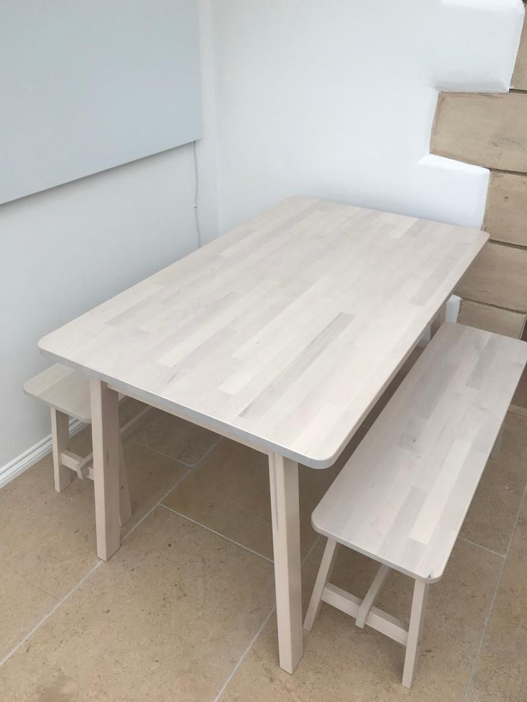 ikea norraker table and bench set