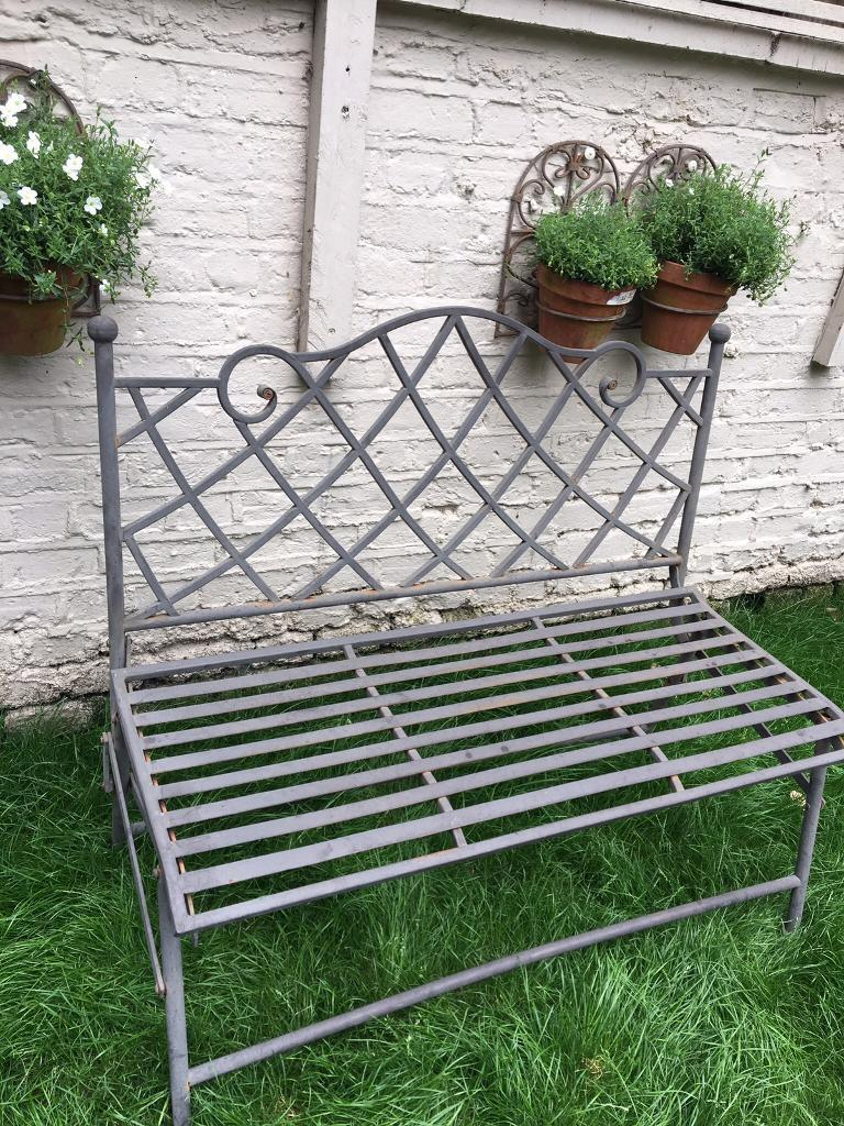 Amazing Metal Folding Garden Bench