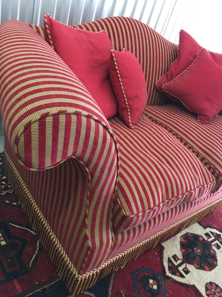 Brand New French Style Beautiful Large Two Seater Striped Sofa | Delivery  Avail