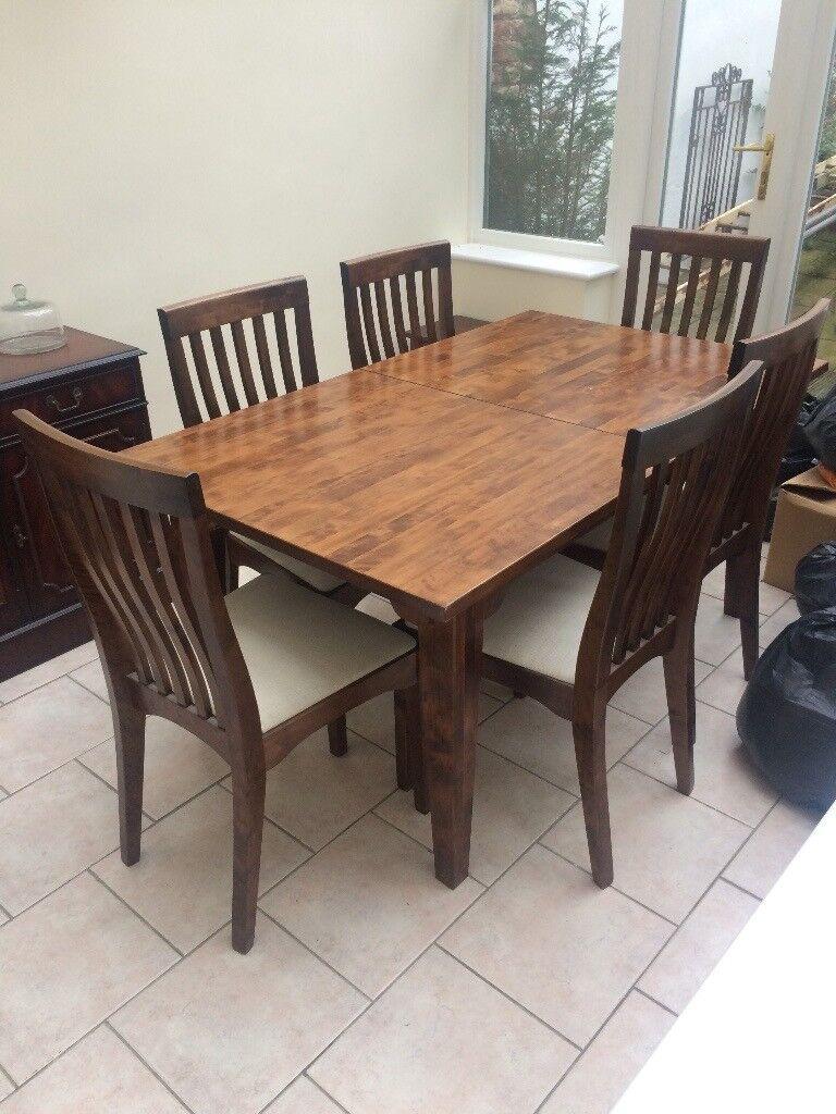 Laura Ashley   Garrat Chestnut Extending Dining Table U0026 6 Garrat Chestnut  Dining Chairs