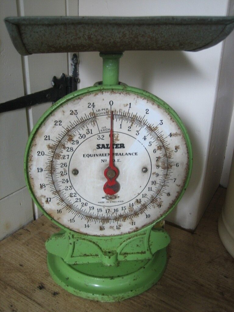 Vintage Kitchen Scales By Salter In Green. Country Kitchen Vintage/retro  Style.