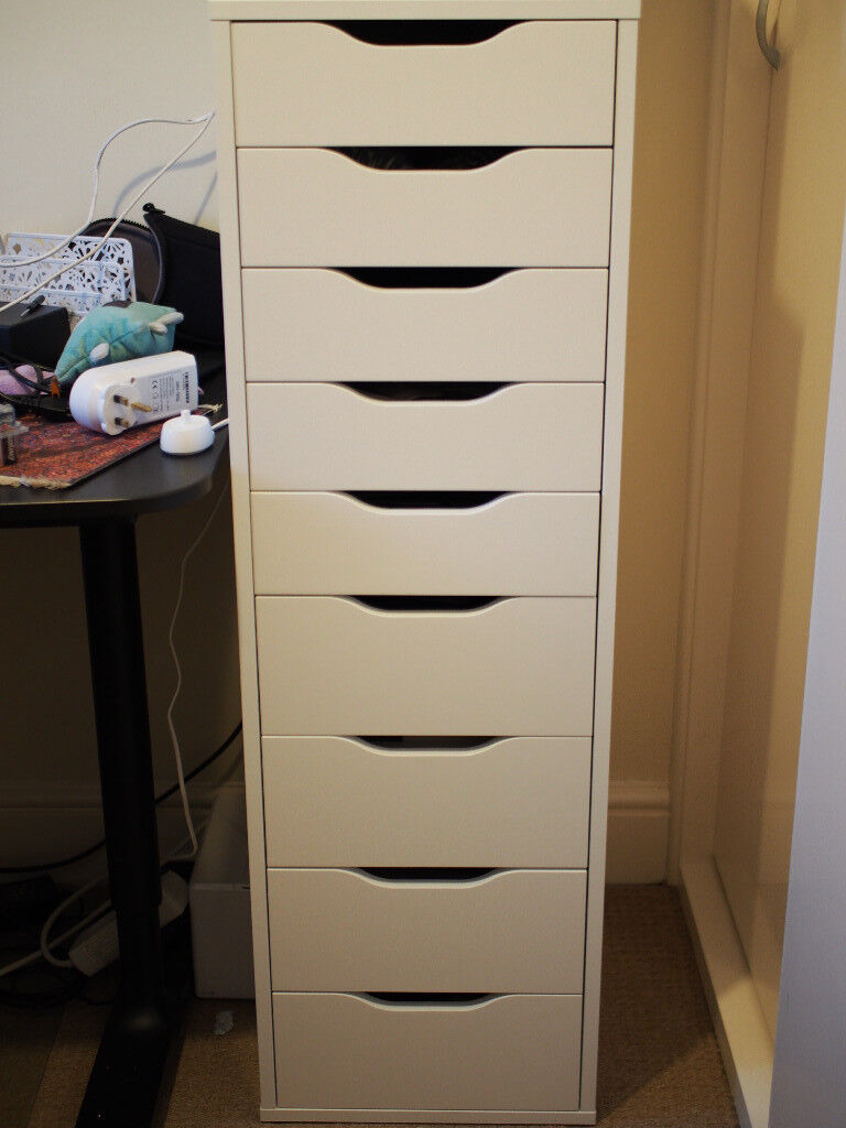 Beau IKEA Alex Drawer Unit With 9 Drawers In White