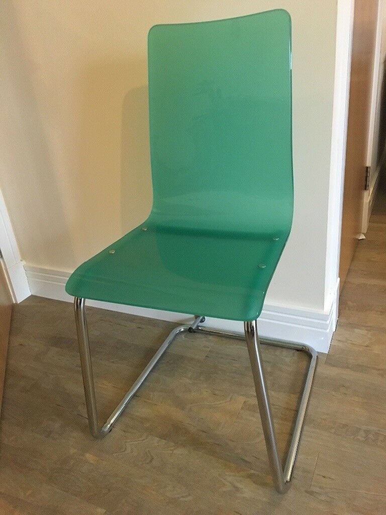 John Lewis Ice Chair, Green Acrylic, 4 Available