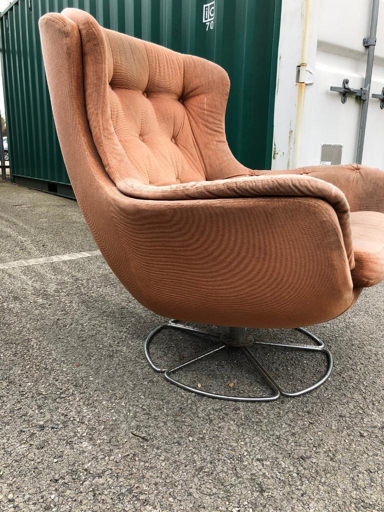 Merveilleux Bruno Mathsson Retro Swivel And Recliner 70u0027s Egg Chair.