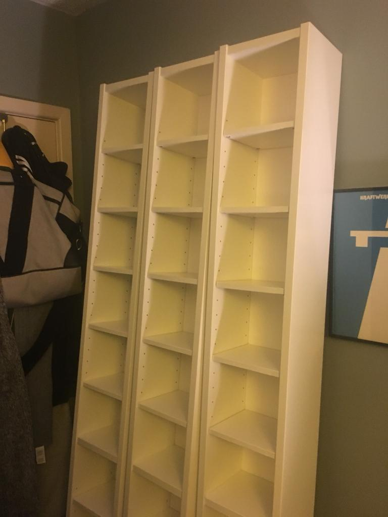 3 X IKEA Gnedby Benno White CD DVD Storage Tower Shelving
