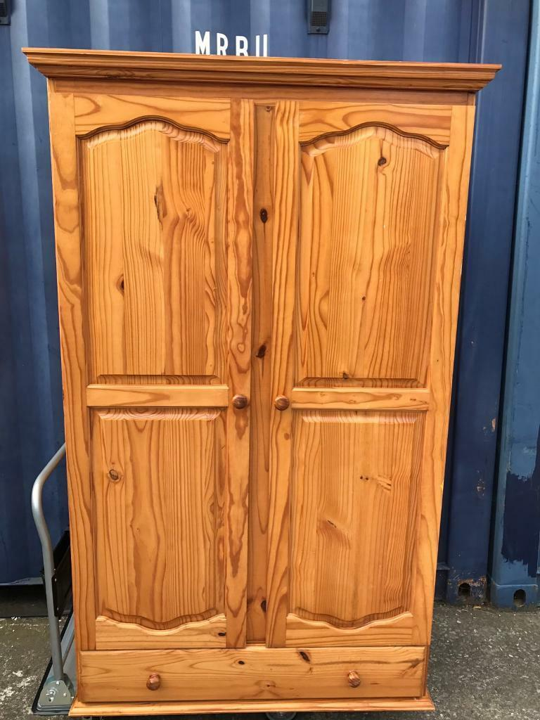 Large Pine Wardrobe FREE DELIVERY PLYMOUTH AREA SALE AGREED