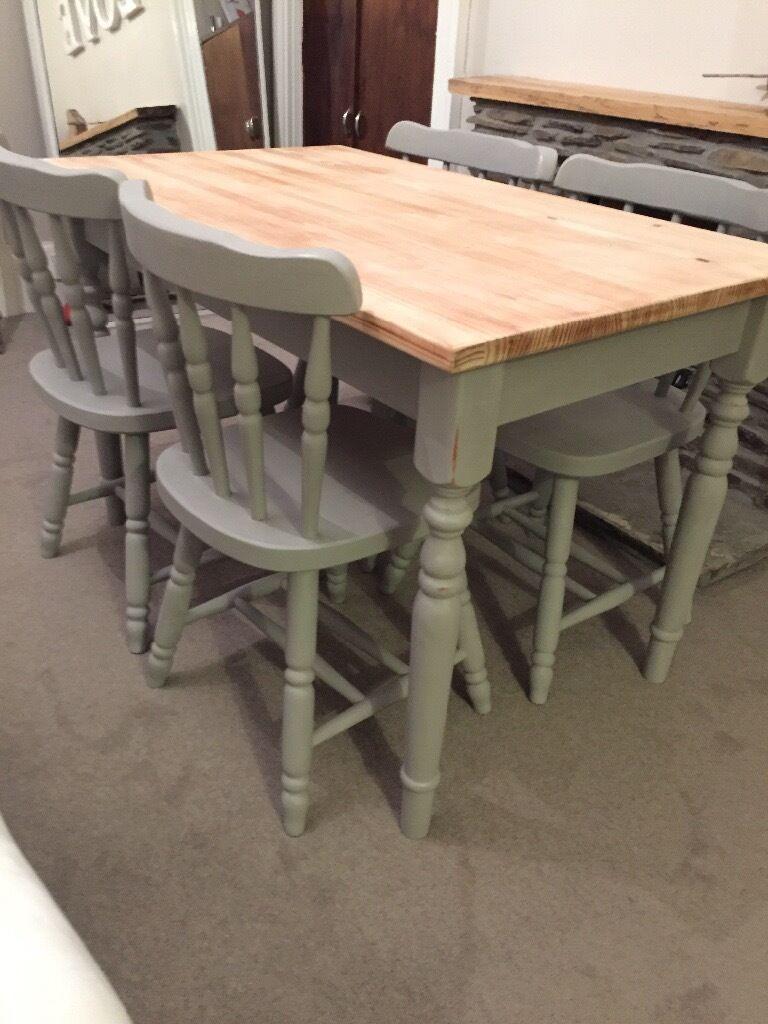 refurbished annie sloan farmhouse dining table  u0026 chairs refurbished annie sloan farmhouse dining table  u0026 chairs   in      rh   gumtree com