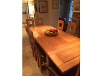 oak table for sale - Oak Table And Chairs