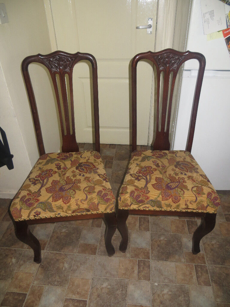 Vintage Chairs, Edwardian Chairs Or Edwardian Style, Very Stylish Chairs X 2