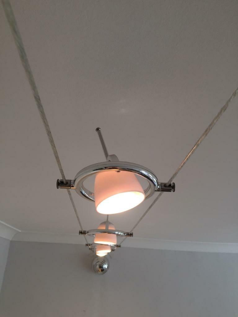 ikea termosfar wire cable track lighting 5 lights
