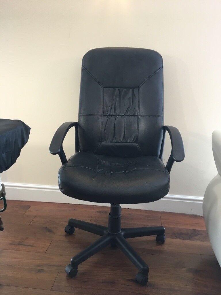 Costco Leather Swivel Type Office Chair & Costco Leather Swivel Type Office Chair | in East Kilbride Glasgow ...