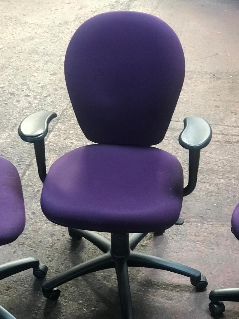 Delicieux Dark Purple Task Chair
