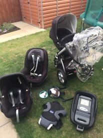 Pearl, Pebble Car Seats U0026 My 4 Pram Inc Maxi Cosi Iso Fix Base