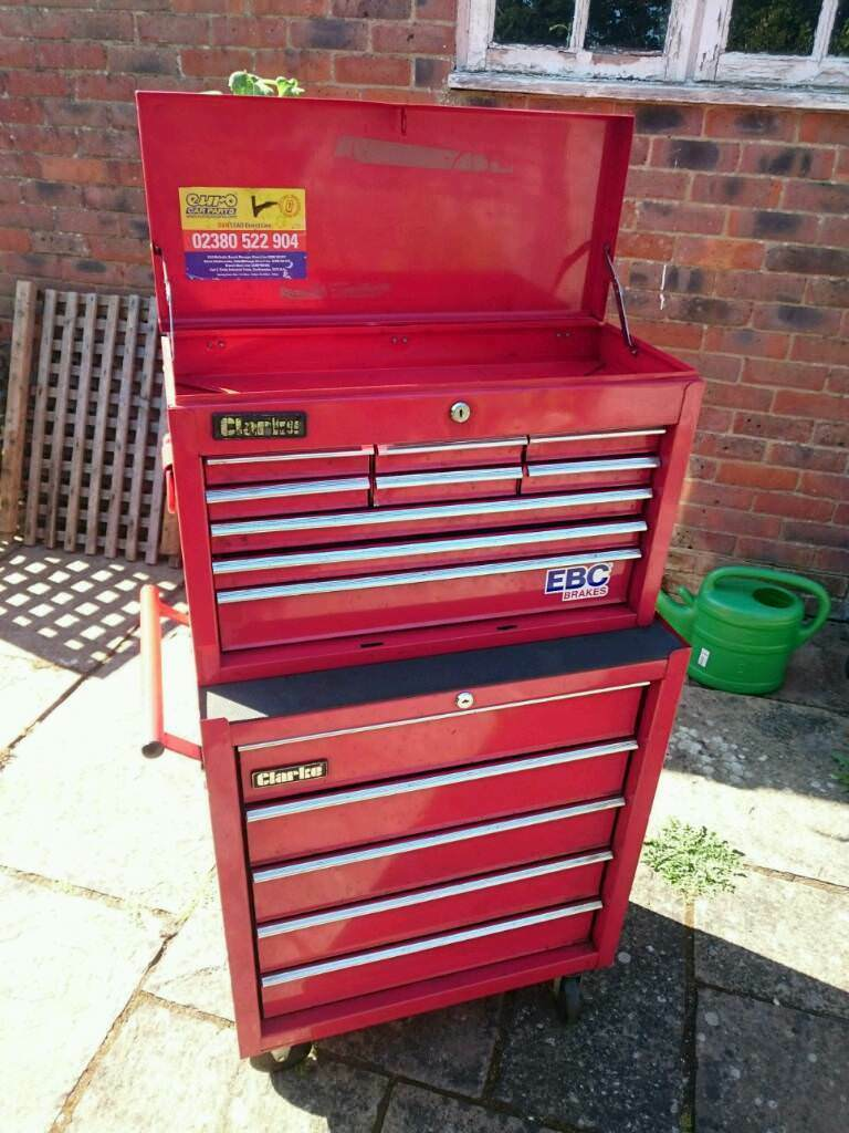 Clarke 38  Stack deep drawer and Clarke Tool chest combination tool box & Clarke 38