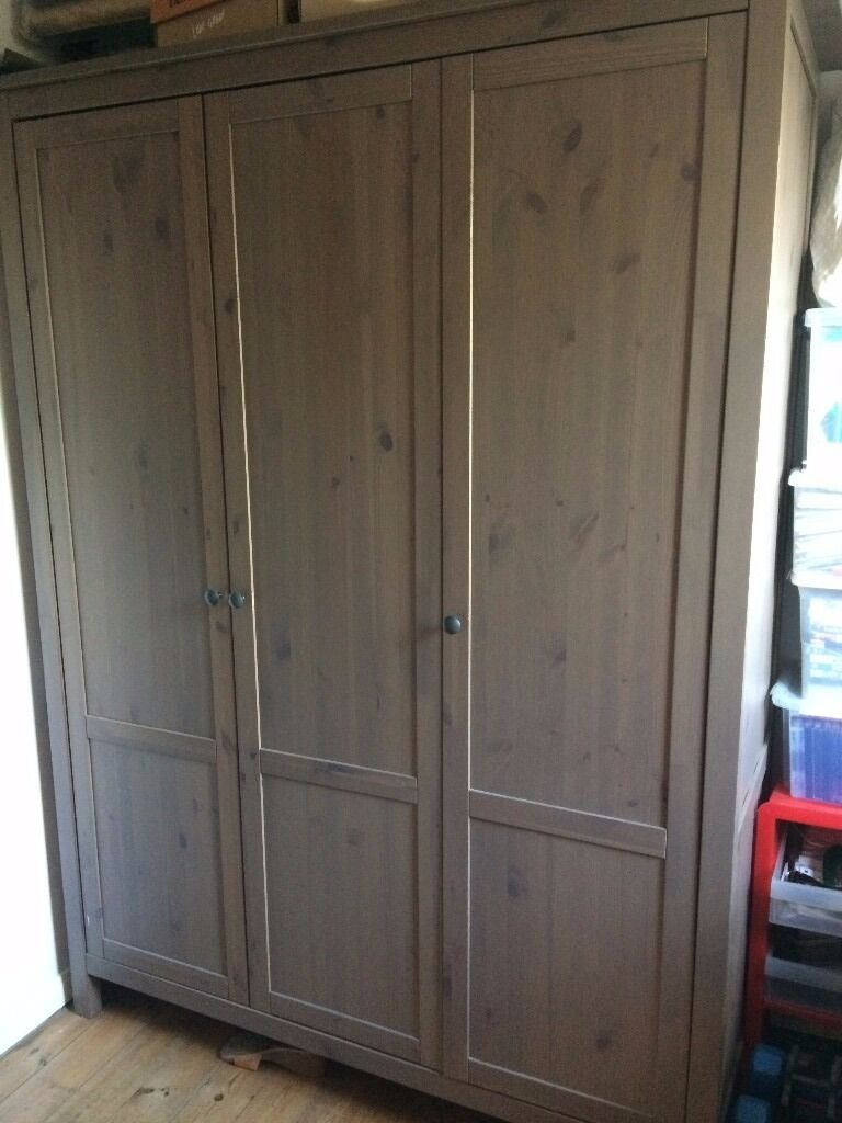 Fabulous Triple Wardrobe Ikea Hemnes Greybrown With Ikea Hemnes Armoire.