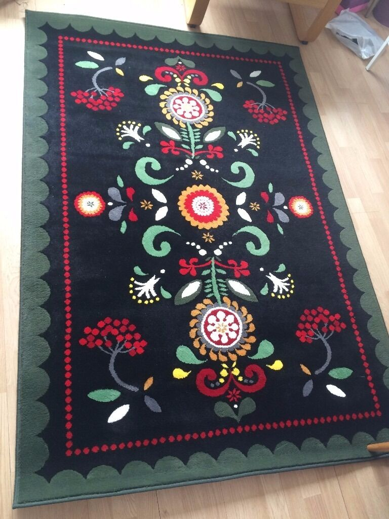 Ikea Black Rug Home Decor