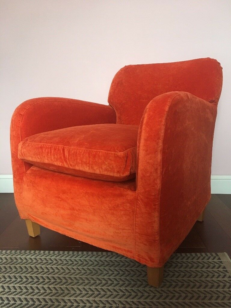 Charming Vintage Habitat Havana Armchair In Millenial Orange