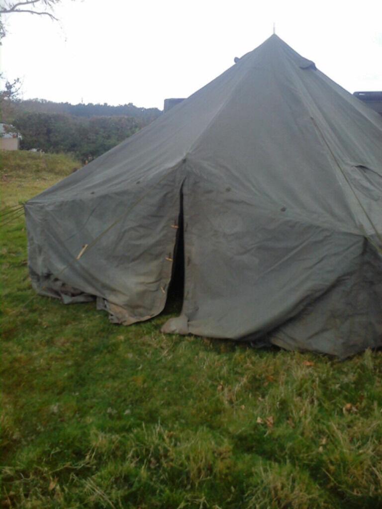 Ten man arctic bell tent - ex british army (unissued) plus frontier stove & Ten man arctic bell tent - ex british army (unissued) plus ...