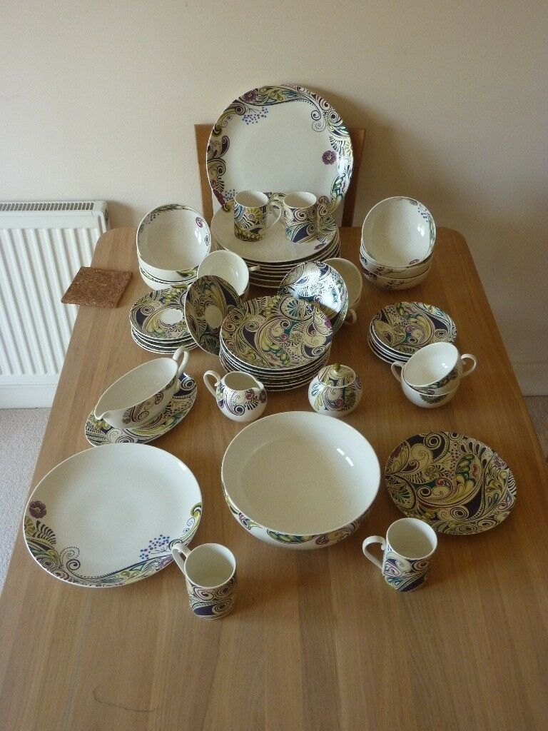 Denby Monsoon CosmiC Dinner Service in Fine China Mint Condition & Denby Monsoon CosmiC Dinner Service in Fine China Mint Condition ...