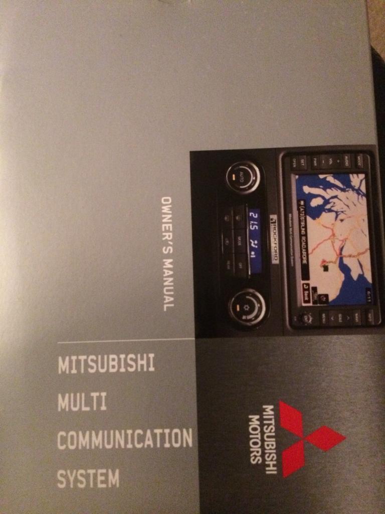 Mitsubishi Multi Communication System Owners Manual