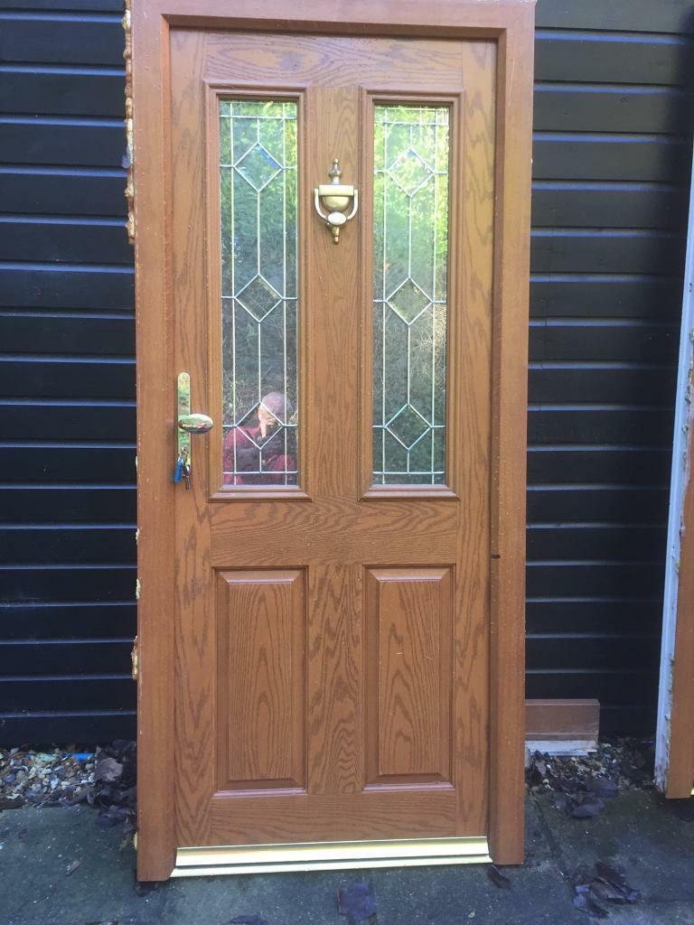 Light Oak Composite Front Door Part - 32: Light Oak Composite Front Door