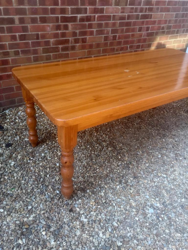 6 Ft Solid Pine Dining Table