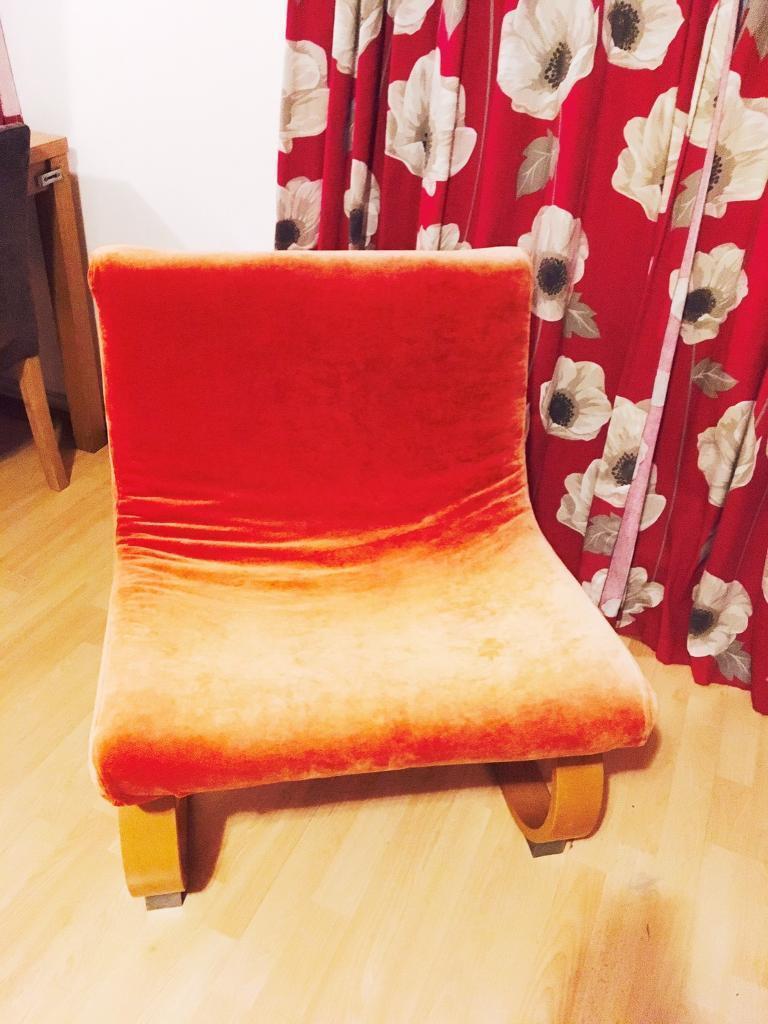 Ikea Burnt Orange Klackbo Chair and Chair cover Burnet orange Poly Cotton. & Ikea Burnt Orange Klackbo Chair and Chair cover Burnet orange Poly ...